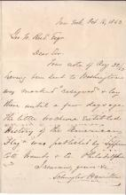 (CIVIL WAR.) HAMILTON, SCHUYLER. Autograph Letter Signed, to George W. Reed,