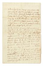 HAMILTON, ALEXANDER. Autograph Document, unsigned, 23 lines in holograph (the remainder in an unknown hand),