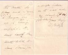 PHILLIPS, WENDELL. Autograph Letter Signed,