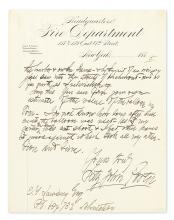 PORTER, FITZ-JOHN. Autograph Letter Signed, to E.T. Lawsing,