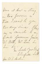 SCOTT, WINFIELD. Autograph Letter Signed, to former Senator from VA William S. Archer,