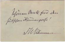 (AVIATORS.) ECKENER, HUGO. Autograph Note Signed,
