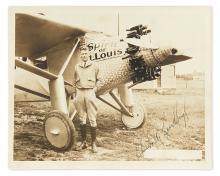 (AVIATORS.) LINDBERGH, CHARLES A. Photograph Signed,