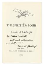 (AVIATORS.) LINDBERGH, CHARLES A. Spirit of St. Louis. Signed and Inscribed,