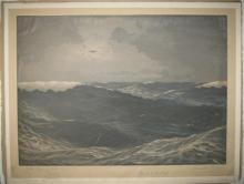 (AVIATORS.) LINDBERGH, CHARLES A. Signature, in pencil, on an etching by Burnell Poole entitled