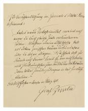 (AVIATORS.) ZEPPELIN, FERDINAND VON. Autograph Note Signed,
