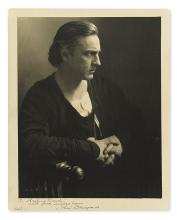 BARRYMORE, JOHN. Photograph Signed and Inscribed,