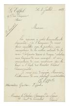 EIFFEL, GUSTAVE. Letter Signed,
