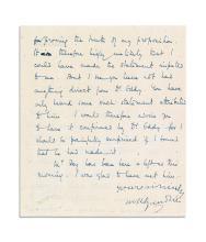 GANDHI, MOHANDAS K. Letter Signed,