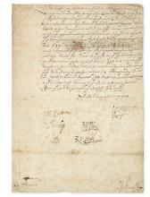 HOWARD, CHARLES; 1ST EARL OF NOTTINGHAM. Letter Signed,