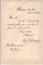 MORSE, SAMUEL F.B. Brief Autograph Letter Signed,