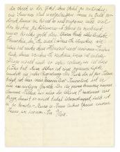 (SCIENTISTS.) EINSTEIN, ELSA. Autograph Letter Signed,