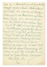 (SCIENTISTS.) EINSTEIN, ELSA. Archive of 9 letters, each Signed,
