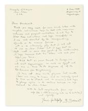 (SCIENTISTS.) GAMOW, GEORGE. Autograph Letter Signed,