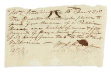 HARRISON, WILLIAM HENRY. Brief Autograph Letter Signed,