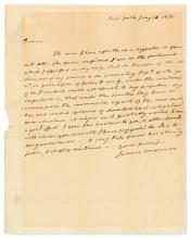 MONROE, JAMES. Autograph Letter Signed, to Charles F. Mercer,
