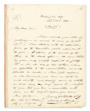 POLK, JAMES K. Autograph Letter Signed, as President, to his Secretary of Treasury Robert J. Walker,