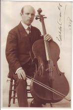 CASALS, PABLO. Photograph dated and Signed,