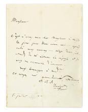 DONIZETTI, GAETANO. Autograph Letter Signed,