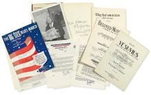 HANDY, W.C. Archive of 9 items Signed, or Inscribed and Signed,