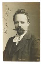 HUMPERDINCK, ENGELBERT. Photograph Postcard dated and Signed,