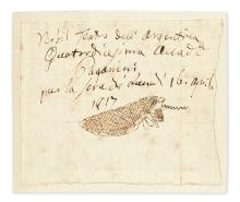 PAGANINI, NICCOLÒ. Autograph Note Signed, to an unnamed recipient, in Italian:
