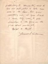 ANDERSON, SHERWOOD. Autograph Letter Signed, to