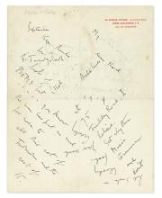 CROWLEY, ALEISTER. Autograph Letter Signed,
