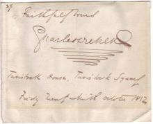 DICKENS, CHARLES. Autograph Inscription Signed,