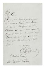 DUMAS, ALEXANDRE; PÈRE. Autograph Letter Signed,