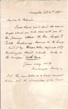 IRVING, WASHINGTON. Autograph Letter Signed, to