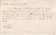 LAWRENCE, THOMAS. Document Signed,