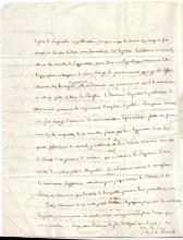 SISMONDI, JEAN CHARLES. Autograph Letter Signed,