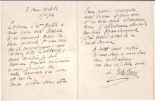CHÉRET, JULES. Autograph Letter Signed, to