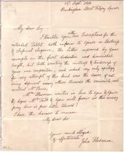 FLAXMAN, JOHN. Autograph Letter Signed, to English politician Charles Augustus Tulk,