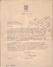 KENT, ROCKWELL. Letter Signed, to the Columbia University Football Manager (