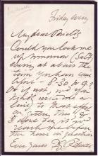 ROSSETTI, DANTE GABRIEL. Autograph Letter Signed,