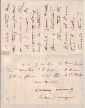 SARGENT, JOHN SINGER. Autograph Letter Signed,
