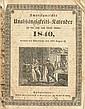 (SLAVERY AND ABOLITION--AMERICAN ANTI-SLAVERY SOCIETY.) Amerikanischer Unabhangigkeits=Kalender fur das Jahr nach Christi Geburt, 1840.
