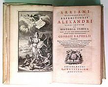 ARRIANUS, FLAVIUS. Expeditionis Alexandri libri septem et Historia Indica.  1757