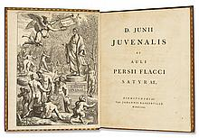 BASKERVILLE PRESS.  Juvenalis, Decimus Junius; and Persius Flaccus, Aulus. Satyrae. 1761. Extra-illustrated.
