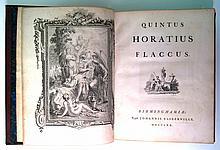 BASKERVILLE PRESS.  Horatius Flaccus, Quintus. [Opera.]  1770