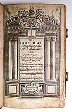 BIBLE IN ENGLISH.  The Holy Bible, Containing the Old Testament and the New.  1707
