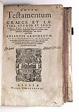 BIBLE IN GREEK AND LATIN.  Novum Testamentum Graece et Latine.  1570