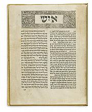 BIBLE IN HEBREW.  Iyov.  1487.  Lacks 3 leaves (replaced in facsimile).