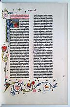 BIBLE IN LATIN.  [Complete color facsimile of the 42-line Vulgate printed by Johann Gutenberg circa 1455.]  2 vols.  1961