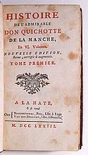 CERVANTES SAAVEDRA, MIGUEL DE. Histoire de l'Admirable Don Quichotte de la Manche . . . Nouvelle Édition.  6 vols.  1773