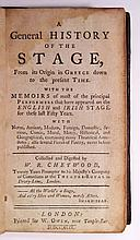 CHETWOOD, WILLIAM RUFUS. A General History of the Stage, from its Origin in Greece down to the present Time.  1749