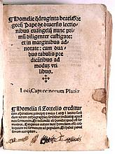 GREGORY I, Saint, Pope. Bound volume containing 6 works.  1516