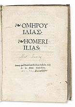HOMER. [Works, in Greek.]  2 vols.  1523
